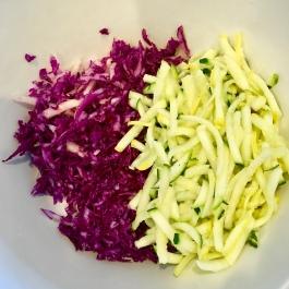Add the zucchini spirals