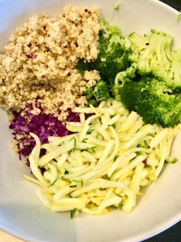 A few scoops of quinoa