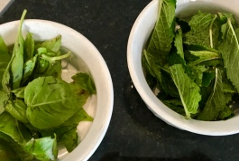 Fresh Mint and Basil makes all the difference