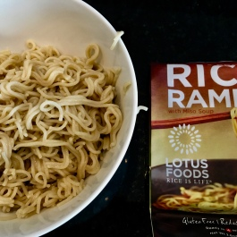 Brown rice ramen adds texture